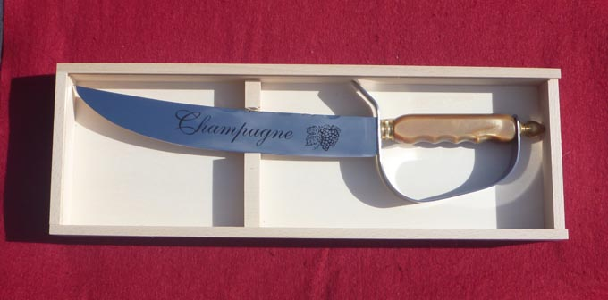 Wood Box Champagne knives