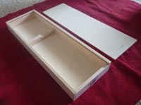 Wood Box to display champagne knife