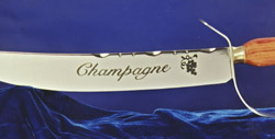 Champagne Sword Detail